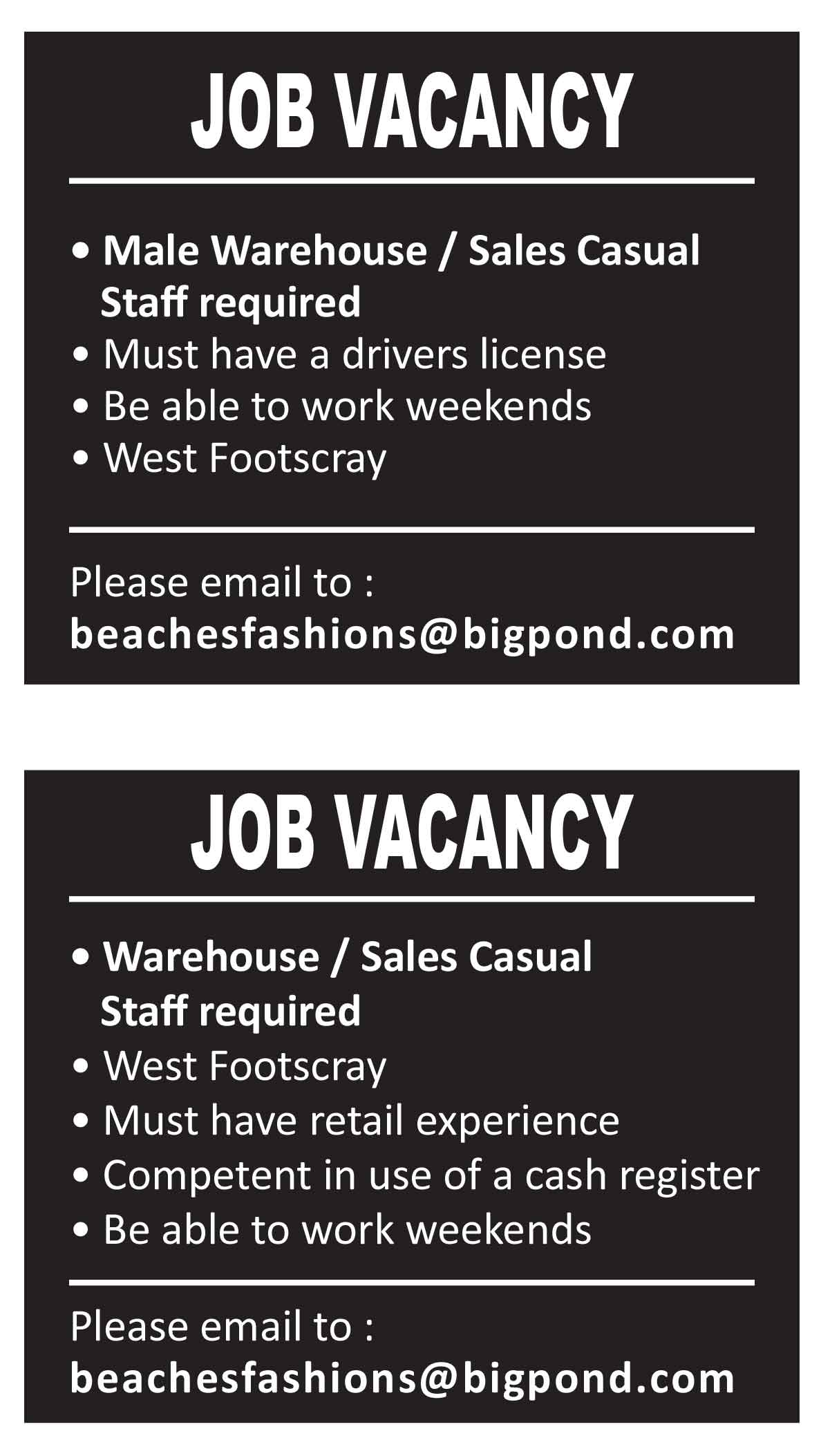 JOB-VACANCY---BEACHES-FASHION---NOV17